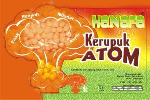 Desain Stiker Baru Kemasan Kerupuk Atom Hanafa
